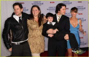 "WEST HOLLYWOOD, CA - MARCH 01: (L-R)  Actor Jamie Kennedy, actress Camryn Manheim, actor Connor Gibbs, actor David Conrad and actress Jennifer Love Hewitt attend the ""Ghost Whisperer"" 100th espisode celebration at XIV on March 1, 2010 in West Hollywood, California.  (Photo by Frederick M. Brown/Getty Images)"