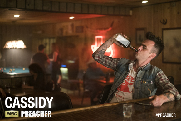 Joseph Gilgun as Cassidy - Preacher _ Season 1, Episode 1 - Lewis Jacobs/Sony Pictures Televsion/AMC