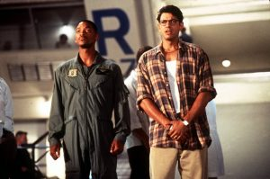 "DATE TAKEN: ho---Will Smith and Jeff Goldblum in ""Independence Day."" ORG XMIT: UT22132"