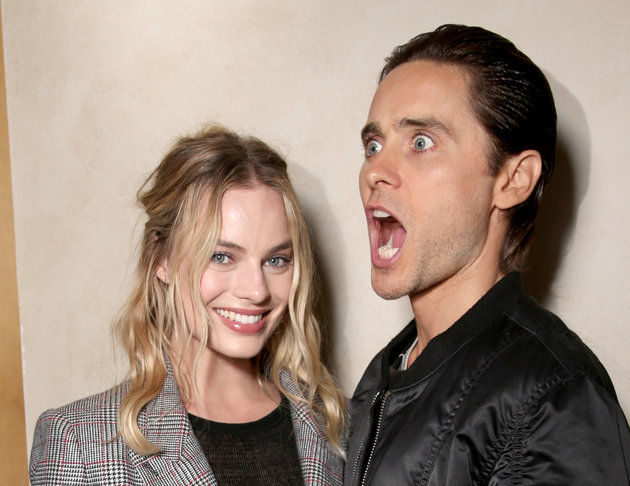 LAS VEGAS, NV - APRIL 12: Actors Margot Robbie and Jared Leto of 'Suicide Squad' attends CinemaCon 2016 The State of the Industry: Past, Present and Future and STX Entertainment Presentation at The Colosseum at Caesars Palace during CinemaCon, the official convention of the National Association of Theatre Owners, on April, 12, 2016 in Las Vegas, Nevada. (Photo by Todd Williamson/Getty Images for CinemaCon)