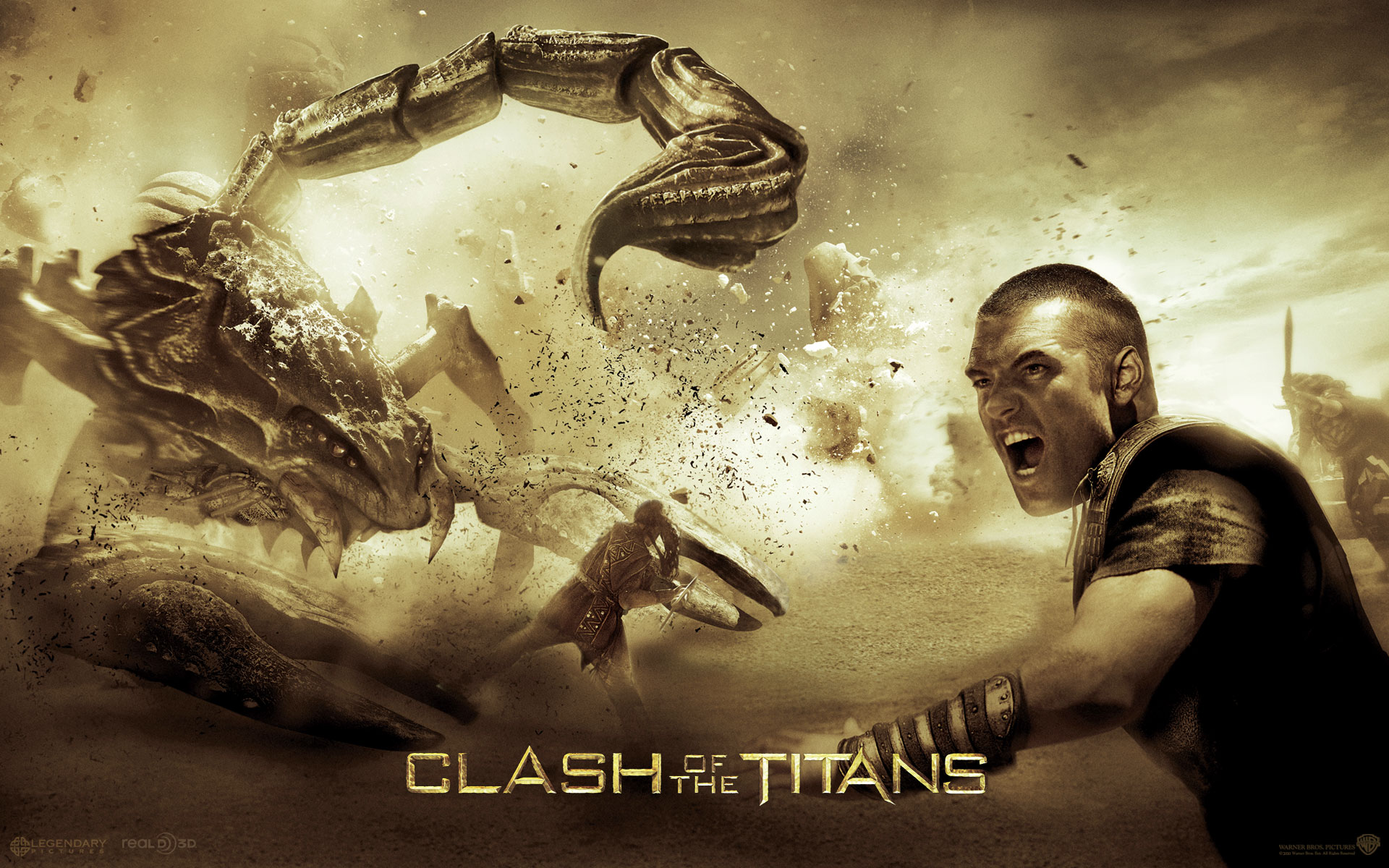 clash of the titans sam and scorpion wallpapers noset