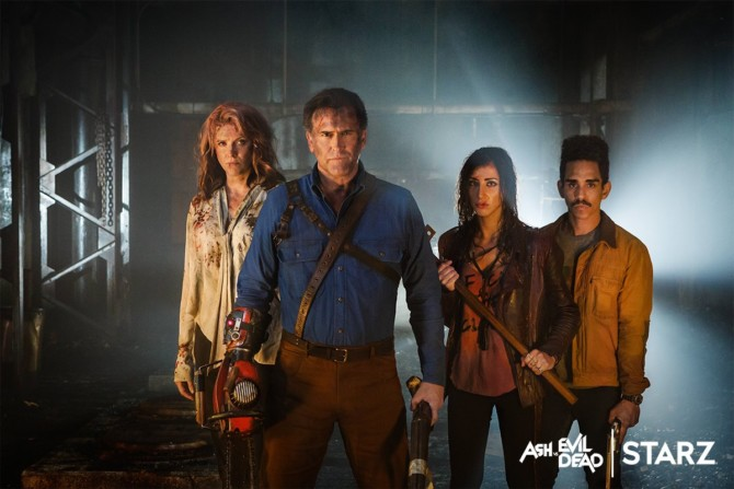 Ash vs. Evil Dead: Bruce Campbell e Lucy Lawless em nova foto da 2ª temporada