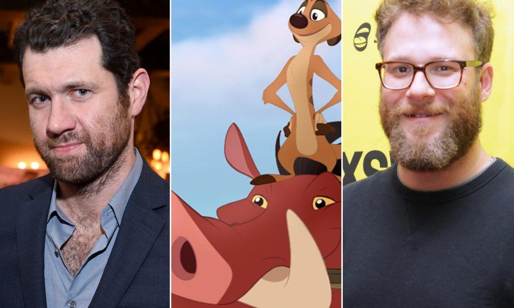 O Rei Leão: Seth Rogen e Billy Eichner serão Timão e Pumba