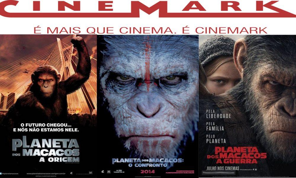 Maratona de Planeta dos Macacos em sala temática do Cinemark