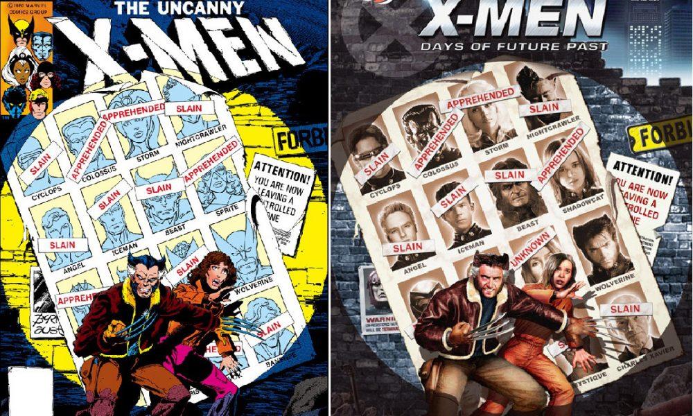 X-Men: Dias de um Futuro Esquecido. As várias capas em homenagem ao clássico da HQ.
