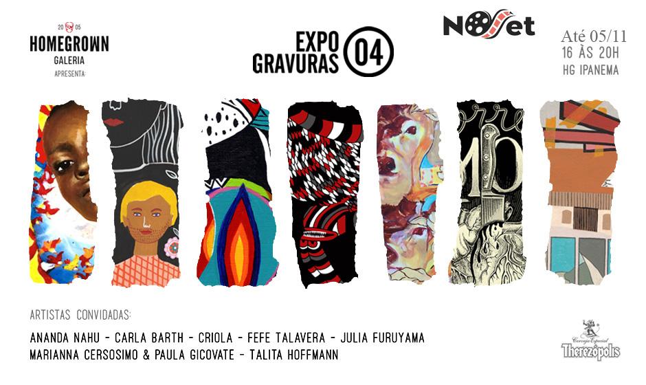 """Últimos dias """"Expo Gravuras 04"""" na Homegrown."""