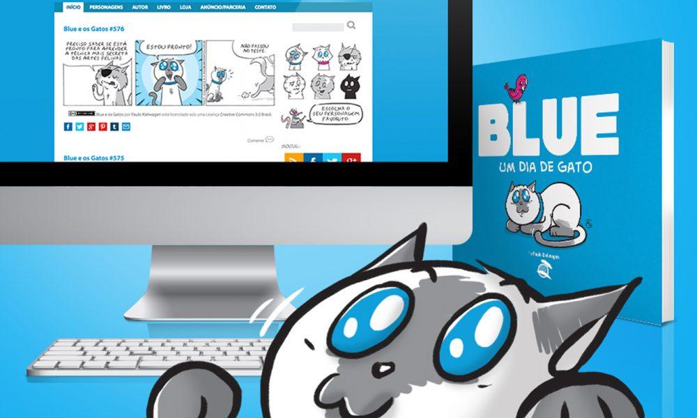 """Social Comics: """"Blue e os gatos"""". O divertido cotidiano dos bichinhos contado em tirinhas"""