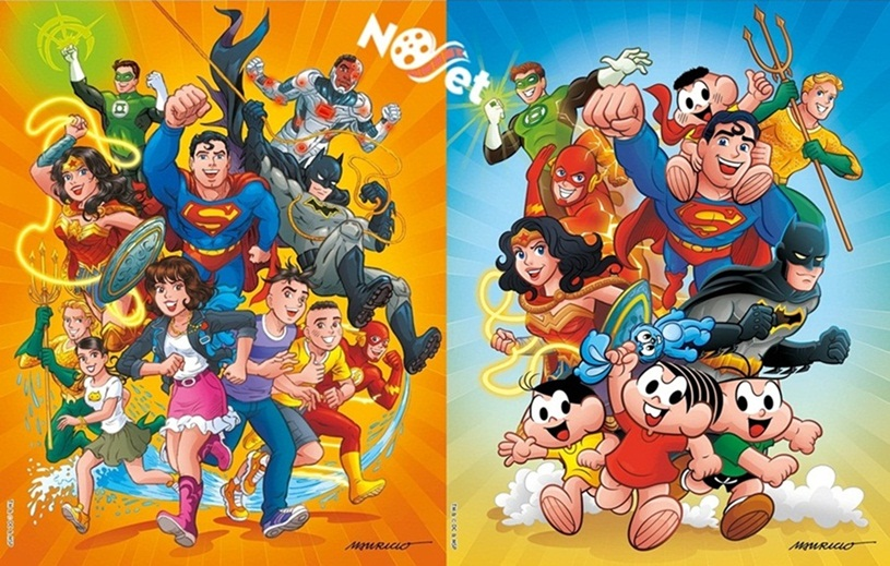 Turma da Mônica encontra-se com a Liga da Justiça da DC!