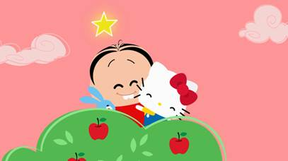 """Mônica e Hello Kitty se encontram em um episódio especial da série """"Mônica Toy"""""""
