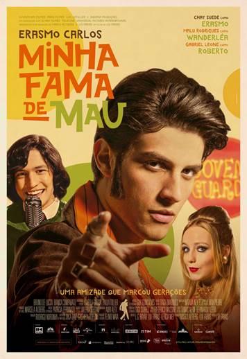 """Cham Suede vive Erasmo Carlos na cinebiografia """"Minha Fama de Mau"""", que estreia dia 14 de fevereiro"""