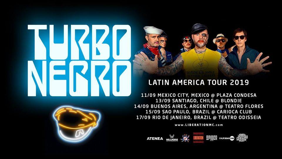 Turbonegro se prepara no Download Festival Madrid para turnê no Brasil