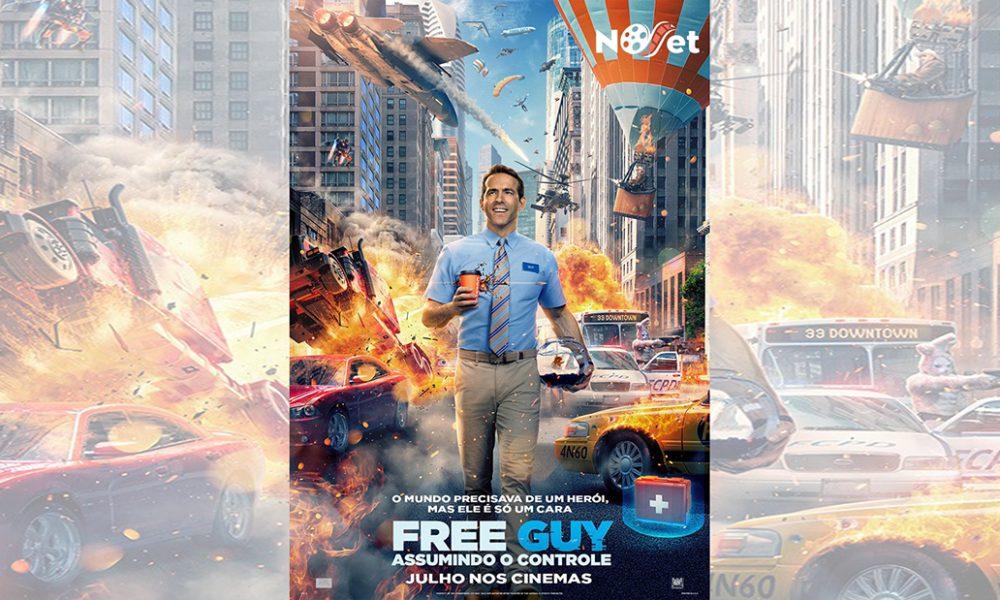 """CCXP revela o retorno de Ryan Reynolds em """"Free Guy – Assumindo o Controle""""."""