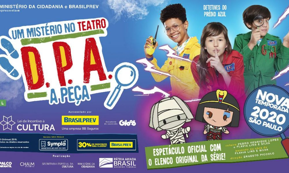 Teatro Procópio Ferreira recebe temporada de D.P.A – A Peça: Um Mistério no Teatro