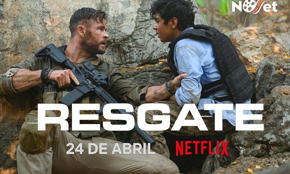 """Netflix divulga pôster e imagens de """"Resgate"""", com Chris Hemsworth"""