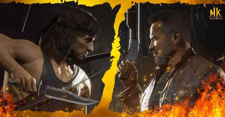 Mortal Kombat 11 Ultimate: Novos trailers mostram kombate entre Rambo vs. Exterminador